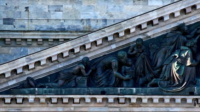 bas-relief of st. isaac's cathedral - isakskatedralen bildbanksvideor och videomaterial från bakom kulisserna