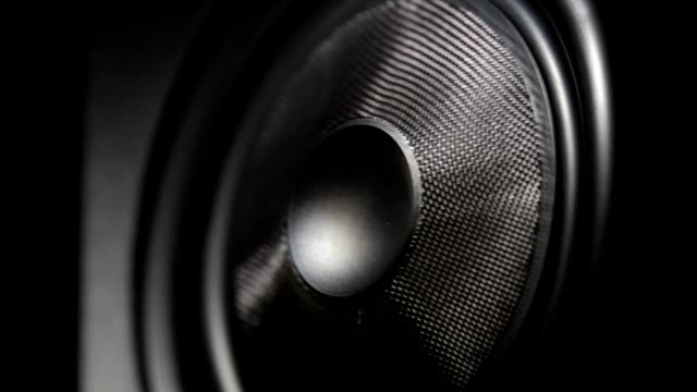 Bass speaker reprodusing low frequency sound video