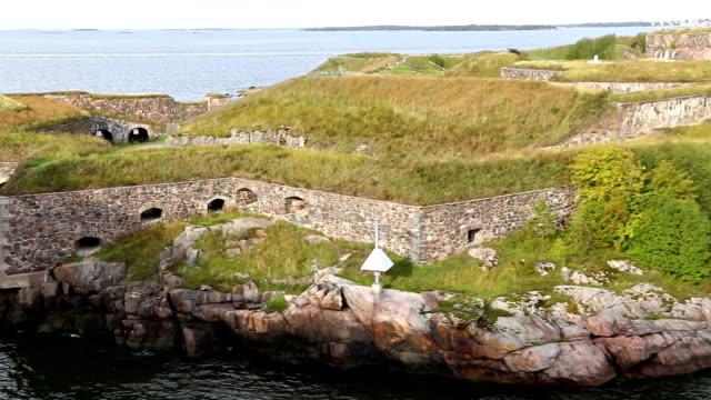 Bastions of finnish fortress Suomenlinna in Helsinki, Finland