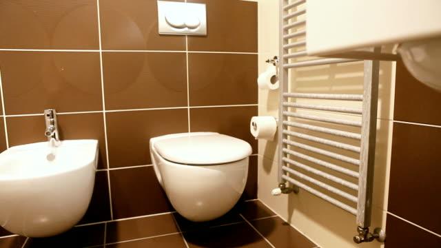 bathroom in hotel video