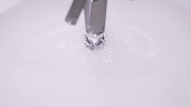 Bathroom Sink with Faucet Running Water video