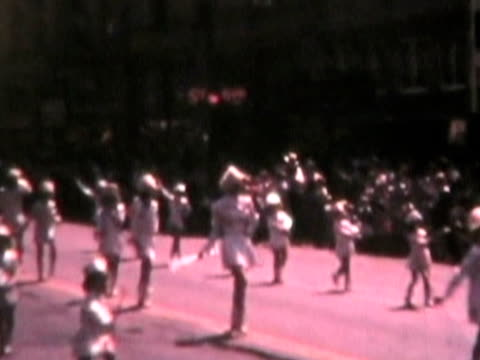 Baton squad at parade-from 1950's film