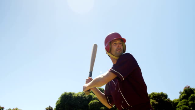 Batter hitting ball during practice session video