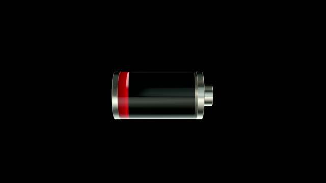 vídeos de stock e filmes b-roll de battery charging animation - carregar