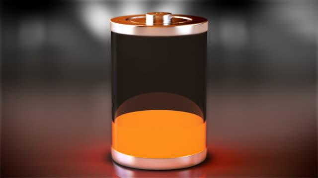 batterieladung von leer, komplett mit verschiedenen farben. - niedrig stock-videos und b-roll-filmmaterial