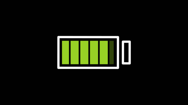 Battery is charging digital sign