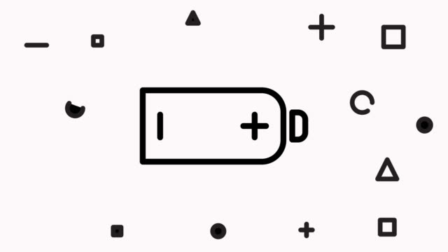 Battery Line Icon Animation