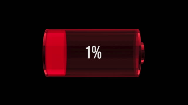 MS Battery on 1 percentage