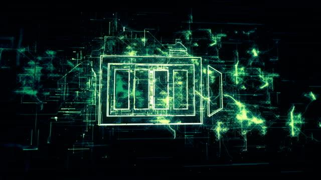 Battery Symbol in Digital Network Environment