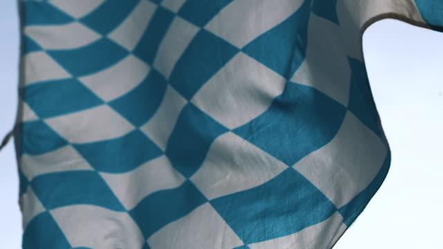 バイエルンの旗、ミュンヘン、バイエルン、ドイツ ビデオ