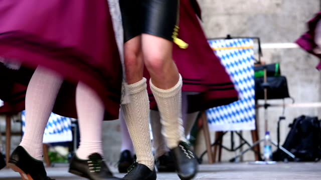 bavarian folk dance at oktoberfest in munich - oktoberfest stock videos and b-roll footage