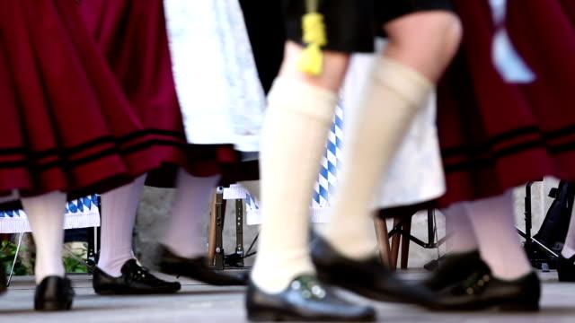 Bavarian folk dance in Munich video