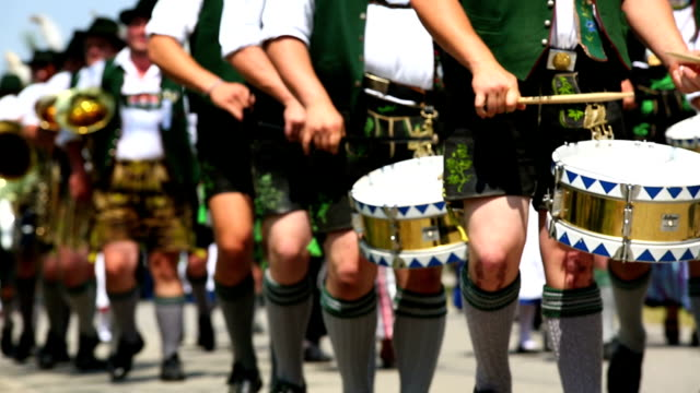 Bavarian Musicians Performing In Street Parade video
