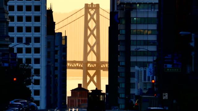 Bay Bridge and Downtown San Francisco video