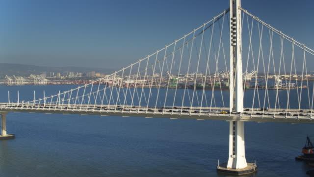 Bay Bridge Traffic Heading into Oakland - Drone Shot video