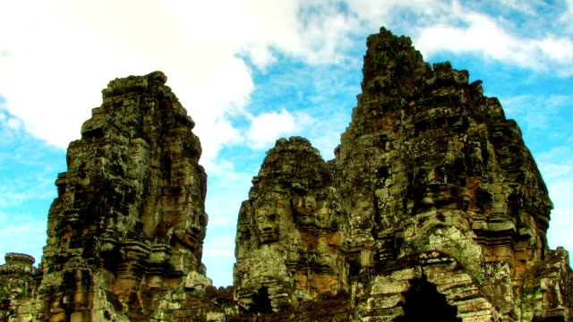 Bayon temple zoom time lapse video