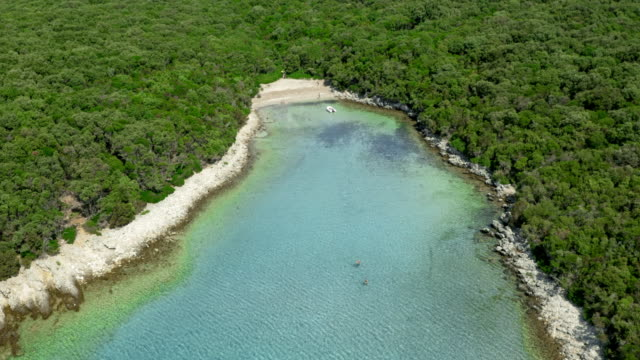 AERIAL Bays and shorelines surrounded by crystal clear sea video