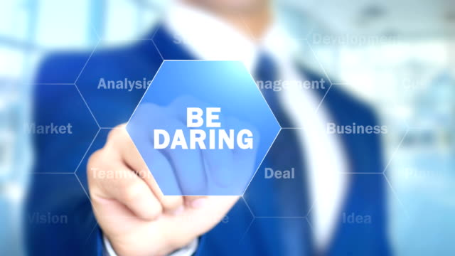 Be Daring, Man Working on Holographic Interface, Visual Screen video