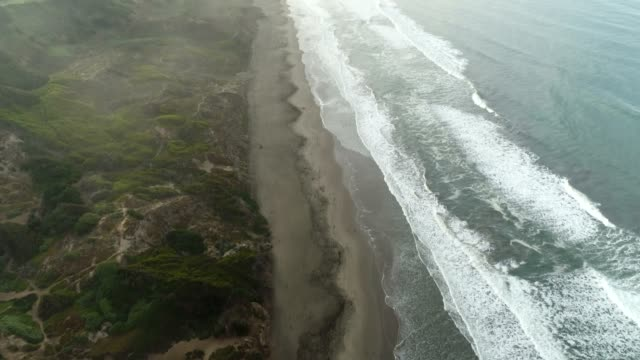 Beach and Road Aerial video