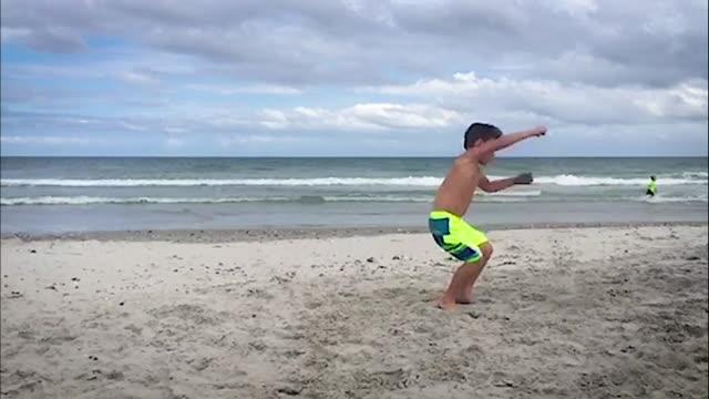 Beach Backflip video