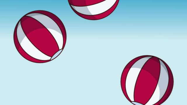 badbollar bakgrund hd animation - inflatable ring bildbanksvideor och videomaterial från bakom kulisserna