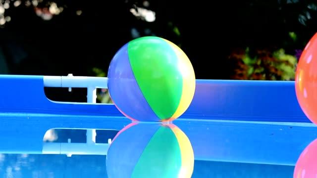 Beach balls in pool video