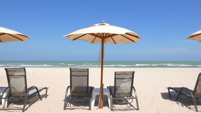 Beach chair umbrella video