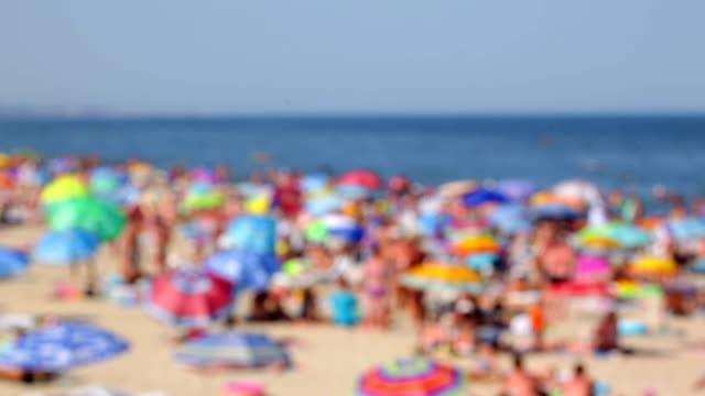 Beach crowd video