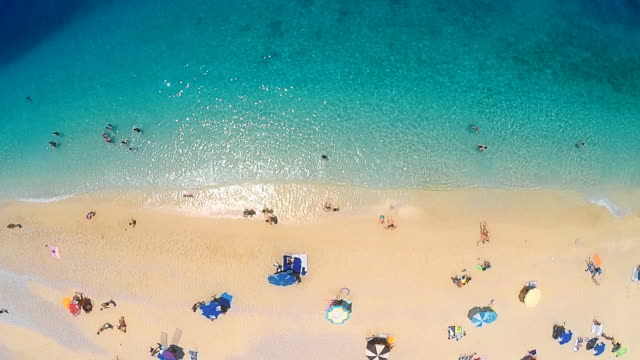 beach from above - aerial beach stock videos & royalty-free footage