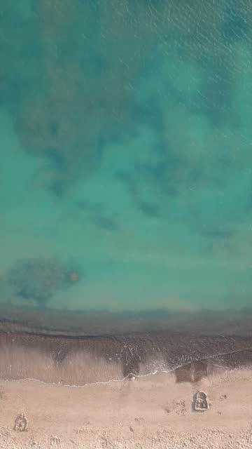 beach from aerial point of view - vertical format video stock videos and b-roll footage