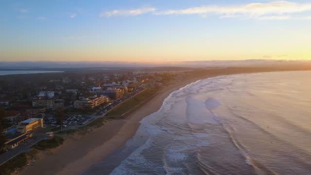 비치 아침입니다 단궤 - 시드니 뉴사우스웨일스 스톡 비디오 및 b-롤 화면