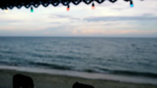 Beach in the Evening. Defocused video