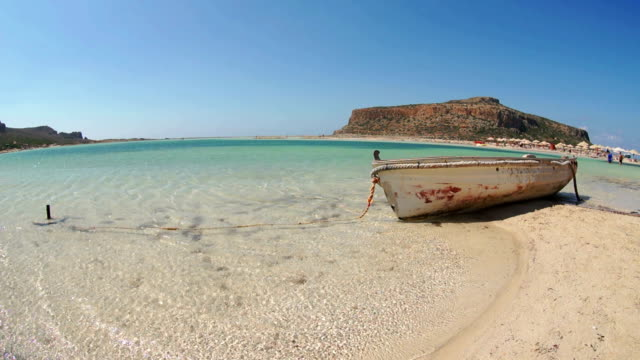 Beach of Balos in Crete, Greece. video