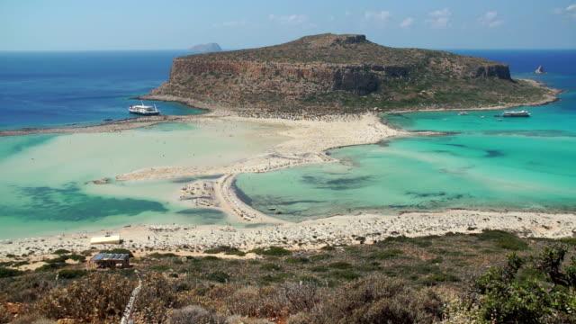 Beach of Balos in Crete, Greece. video