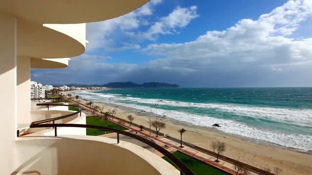 Beach of Mediterranean Sea at Cala Millor - Majorca video