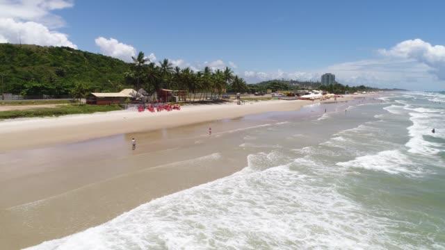 vídeos y material grabado en eventos de stock de playa de milhonarios en ilhéus, bahia, brasil - bahía