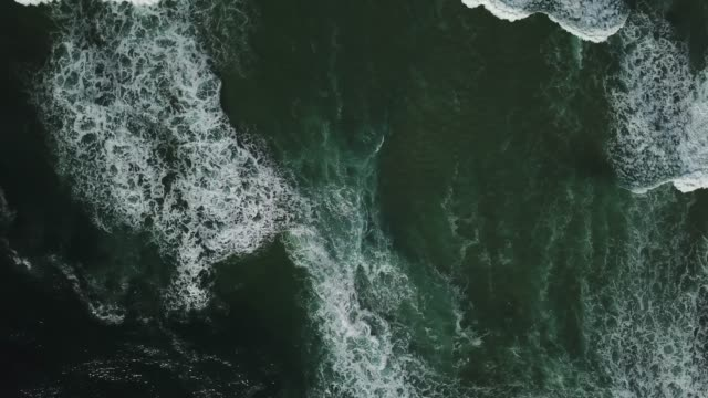 Beach on aerial drone top view with ocean waves reaching shore, France, Aquitaine nature,  aerial,  ocean,  wave,  sea,  drone,  travel,  beach,  tropical,  beauty,  blue,  turquoise,  coast,  coastline,  color,  surf,  summer,  vacation,  shore,  view,  scenic, normandy stock videos & royalty-free footage