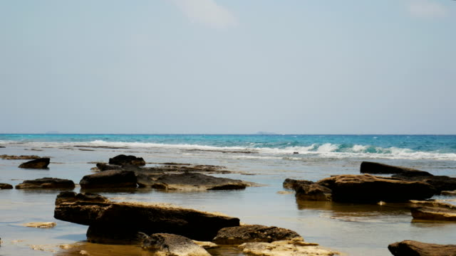 Beach on Rhodes Island, Greece Beach in Greece aegean islands stock videos & royalty-free footage