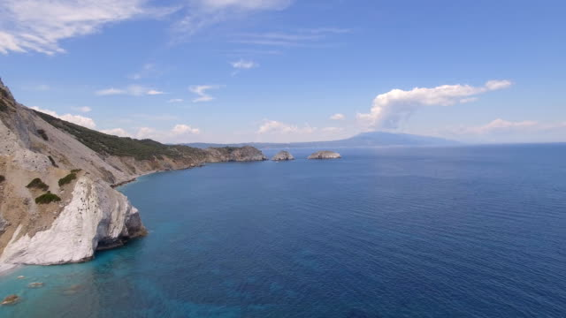 beach on skiathos island, greece - isole egee video stock e b–roll