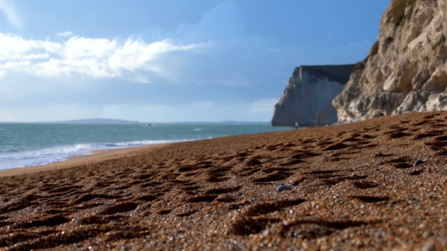 Beach on the Jurassic Coast in Dorset video