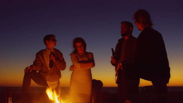 Beach Party Silhouettes - video