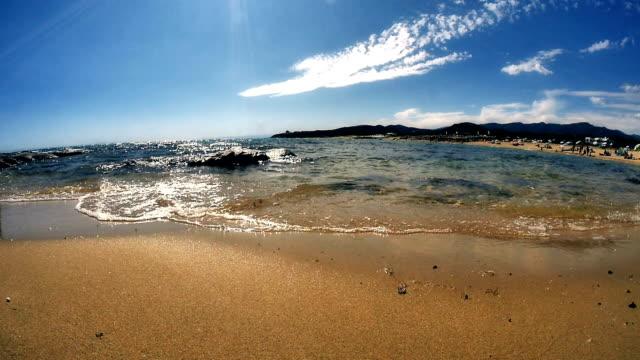 beach sand sea slow motion video