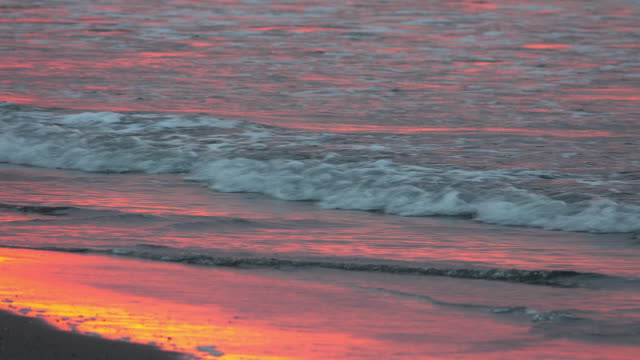 Beach sunrise video