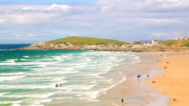 Beach Time Lapse Cornwall Coastline video