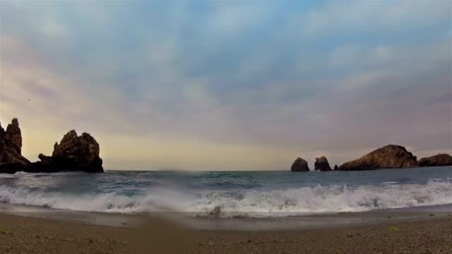 beach view timelapse - 4k-upplösning - vattenlandskap bildbanksvideor och videomaterial från bakom kulisserna