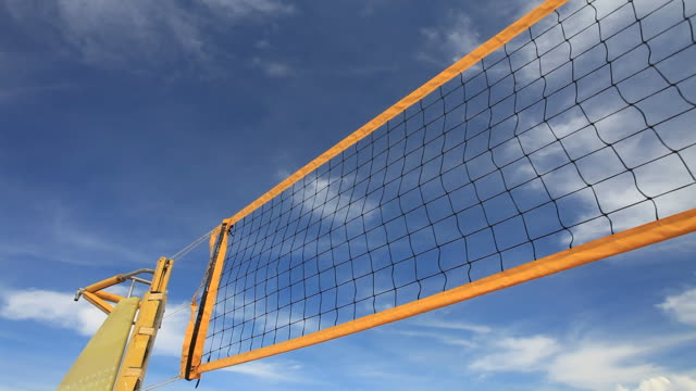 Beach Volleyball net HD1080p  beach volleyball stock videos & royalty-free footage