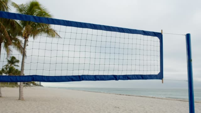 Beach Volleyball Net Volleyball Field at the beach volleyball ball stock videos & royalty-free footage