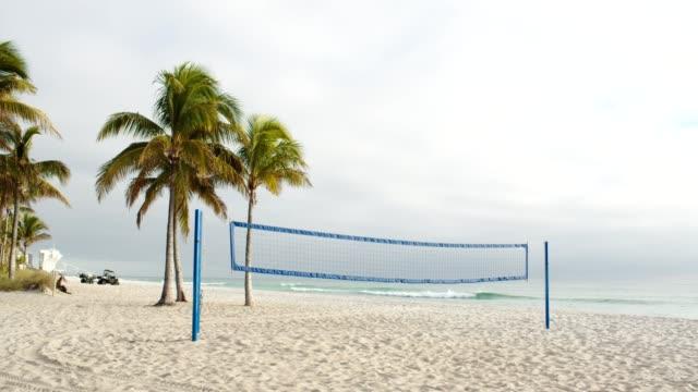 beachvolleyball-netz - netzgewebe stock-videos und b-roll-filmmaterial