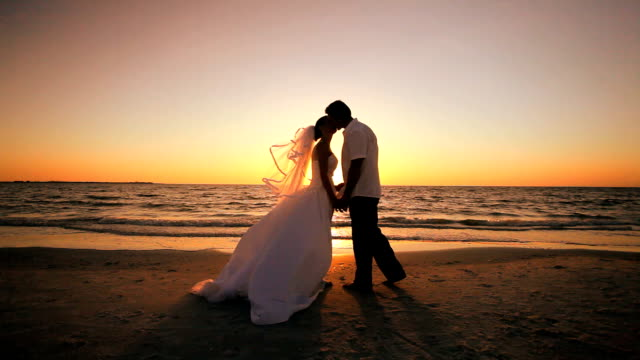 Beach Wedding at Sunset video