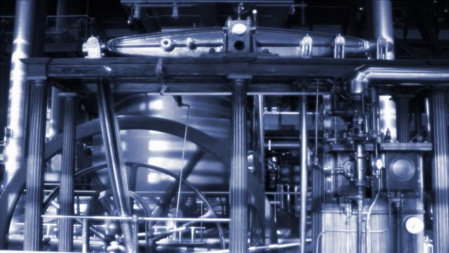 fascio del motore - rivoluzione industriale video stock e b–roll